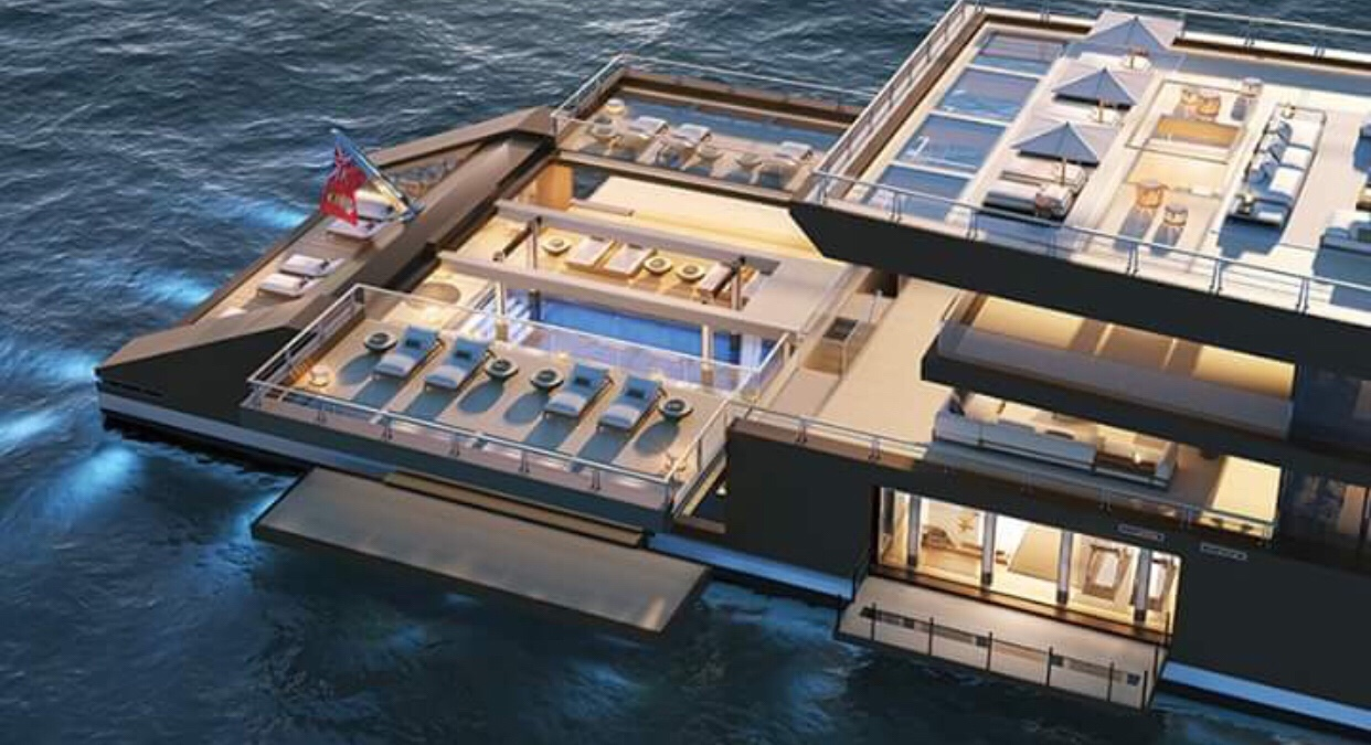 Man and Nature Become One With Insane 120-Meter-Long Yacht Concept