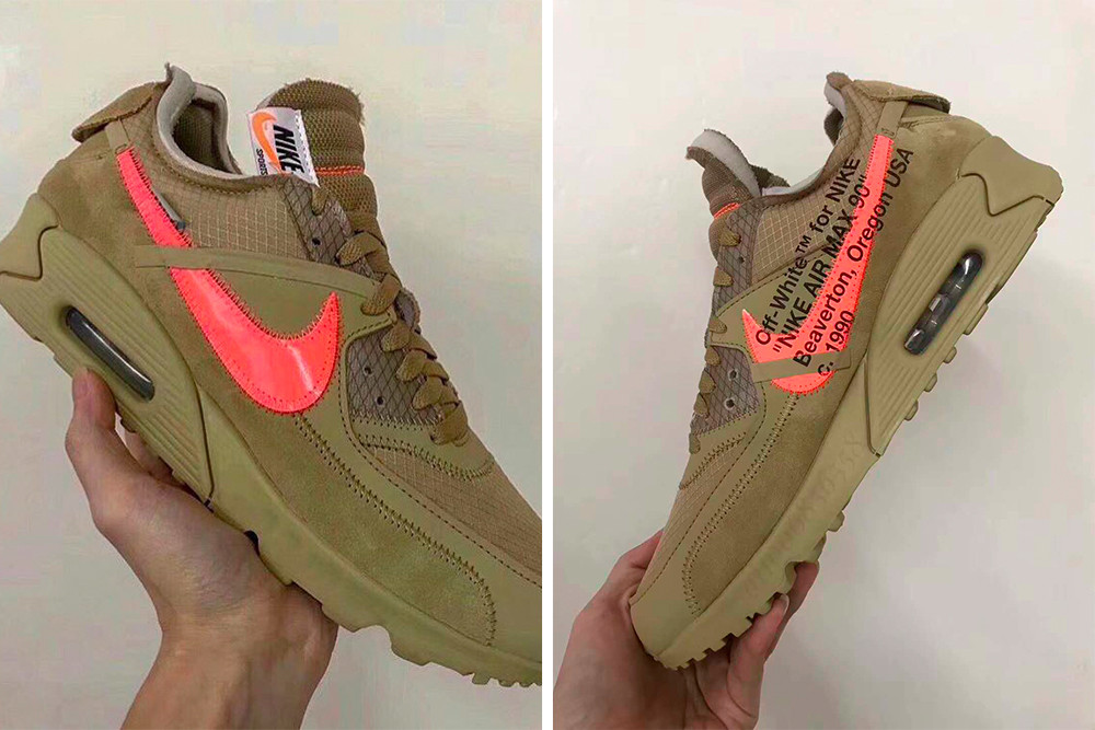 Off White x Nike Air Max 90 Desert Ore 2018 (by