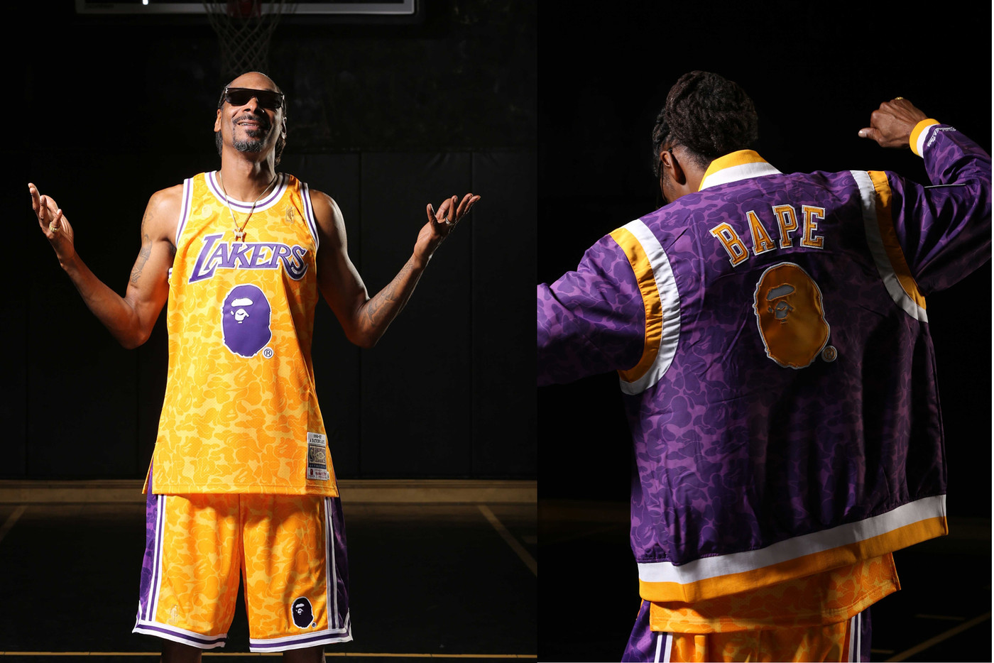 BAPE Releases NBA Collection With Mitchell & Ness