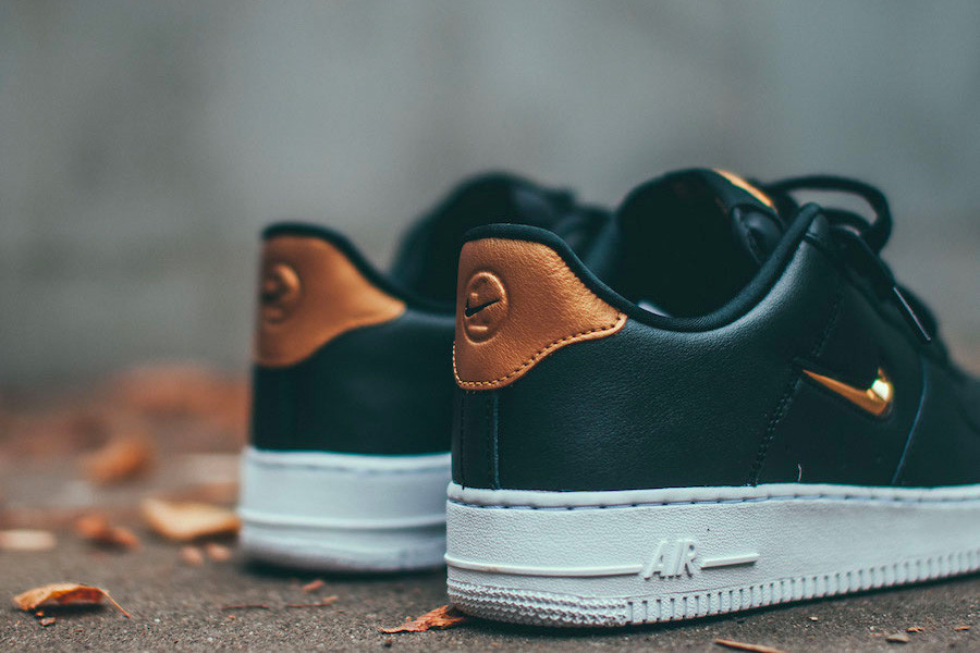 Nike S Air Force 1 07 Lv8 Jewel Gets A Metallic Gold Makeover