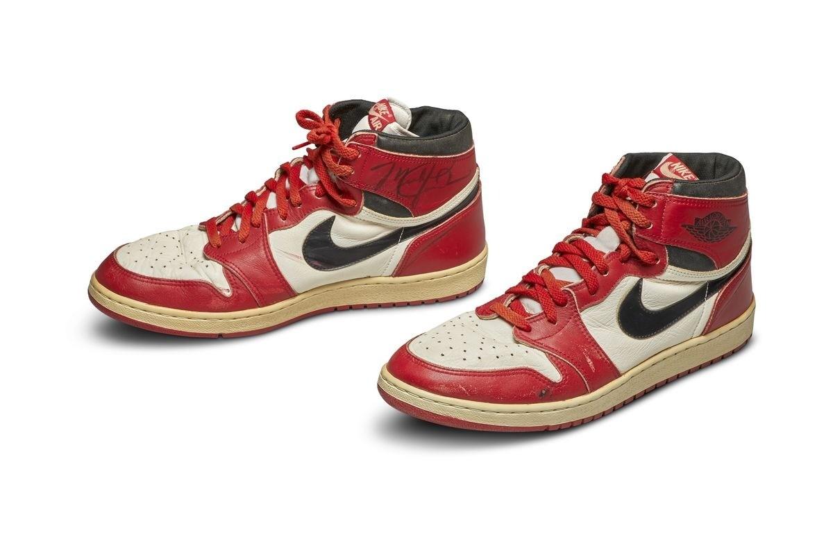 , Michael Jordan's Game-Worn Air Jordan 1s Sold For Record $560,000 at Auction