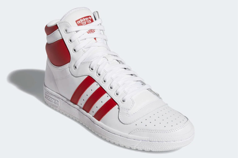, adidas Top Ten Hi White Red EF2359 – Release Info