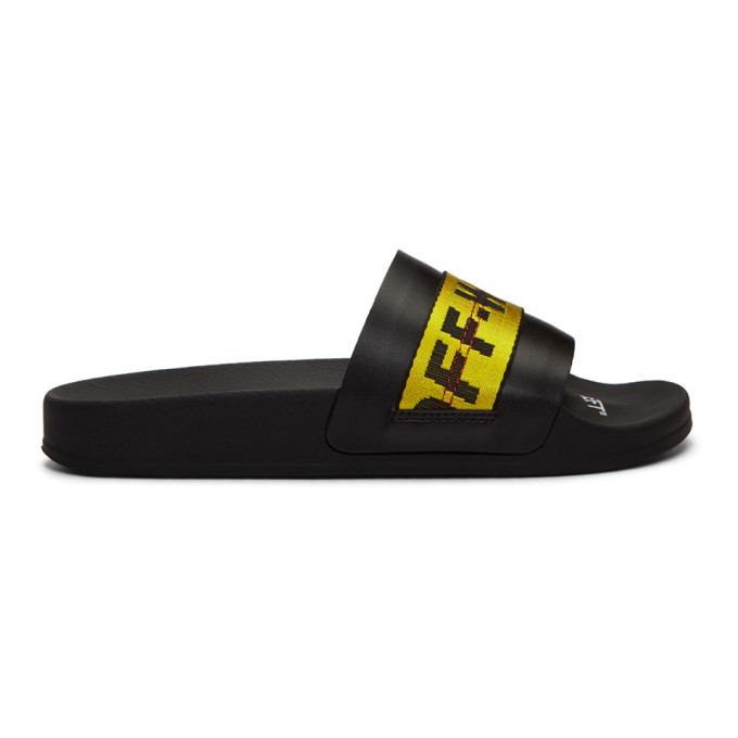 Off-White Black Industrial Slides