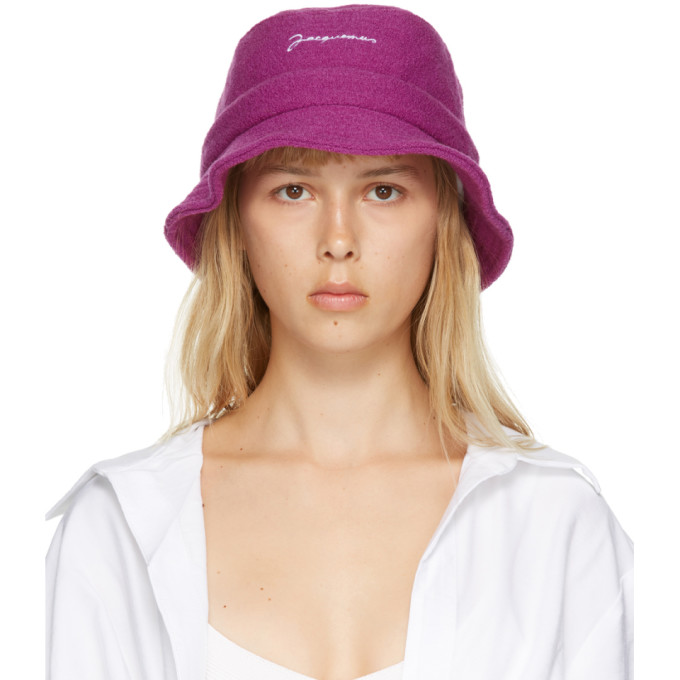 JACQUEMUS   Pink Wool 'Le Bob' Bucket Hat